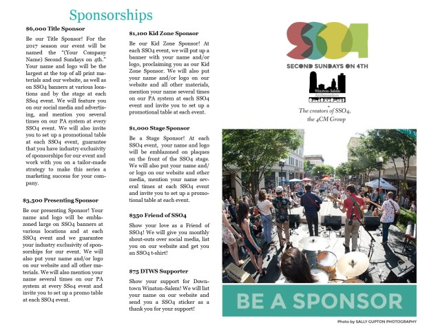 2017 Be a Sponsor Info