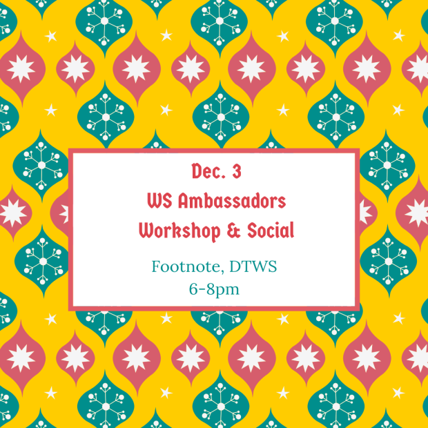Dec. 3WS AmbassadorsWorkshop & Social