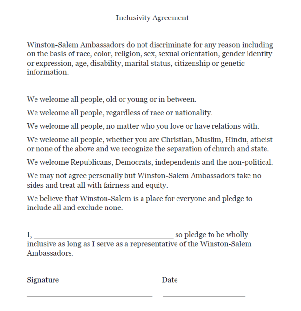 inclusivity agreement snapshop