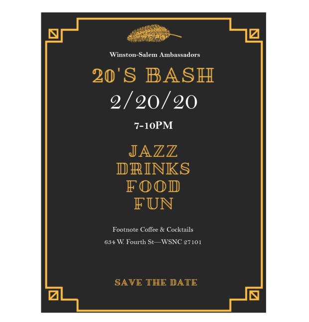 20s bash invitation